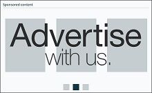 Example of a side bar banner − half | Advert Advertise With Us Small Actual Size