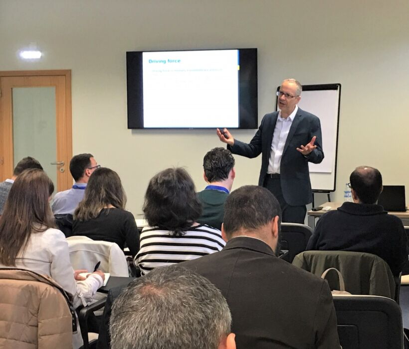 Simon Judd delivering The MBR Short Course at CTGA in Coimbra, Portugal | Blog May 2019 Plugging The Gaps