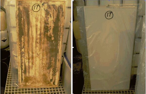 Figure 2.  Membrane panel before and after cleaning | Feat Mbr Panel Cleaning Fig 2
