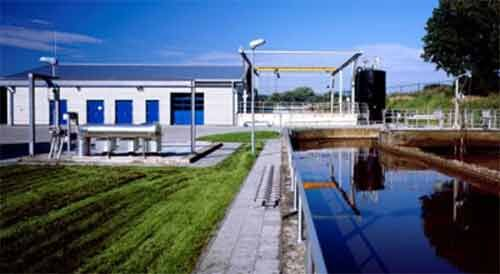 Figure 2.  The retrofitted Glessen WWTP showing the membrane filtration facility in the background (Credit: Erftverband) | Feat Municipal Lessons Learned Fig 2