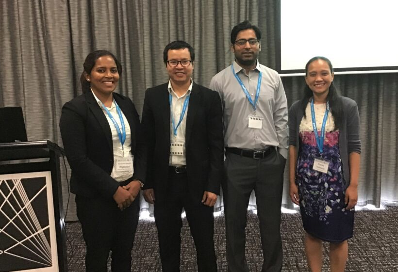 Figure 3.  MBR Session 2 presenters (left to right): Kaushalya Wijekoon, Luong Ngoc Nguyen, Muhammad Bilal Asif and Perlie Velasco. Not pictured: Sherub Phuntsho | Features imstec 2020 fig 3
