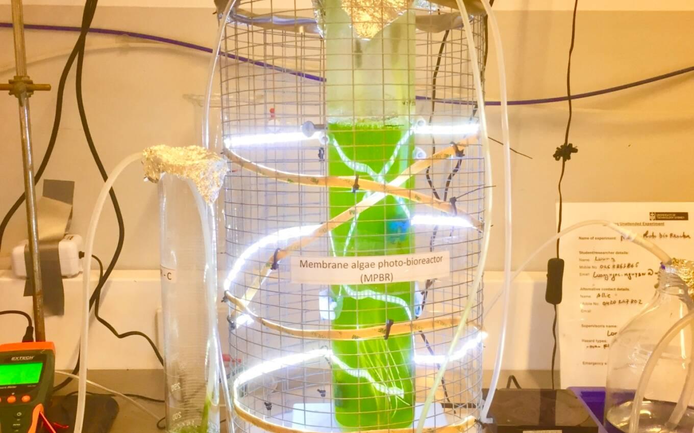 Figure 1:The anaerobic membrane bioreactor and membrane photobioreactors