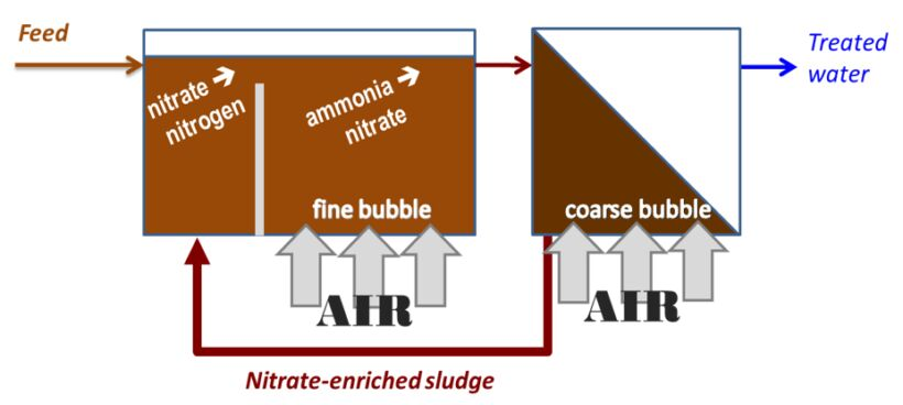 Figure 1.  Nutrient removal by the Modified Ludzack−Ettinger (MLE) process | About Mbrs Simon Judd Sludge Pumping Costs