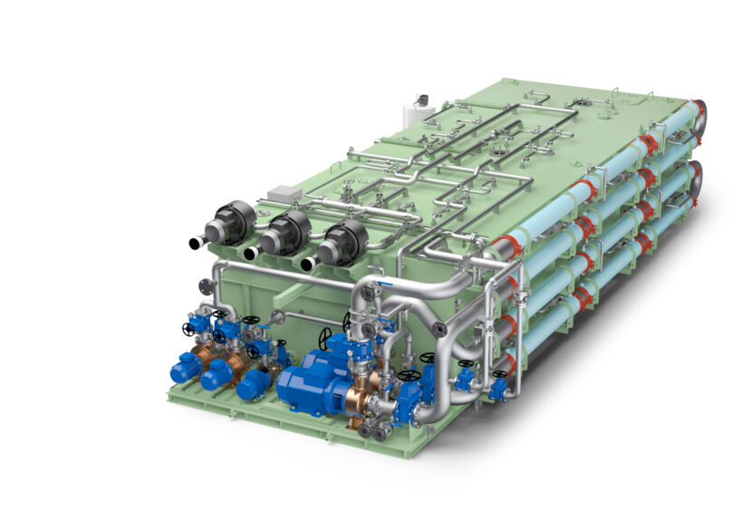 Illustration of the Wärtsilä Hamworthy membrane bioreactor systems | News Feb 15 Queen Mary 2 Cruise Ship To Meet Strict Environmental Regulations With Wartsila Systems