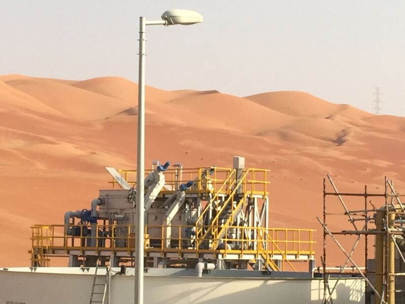 ACWA Emirates WWT plant at Aramco Shaybah residential complex | News Feb 17 Acwa Emirates Completes Mbr Saudi Aramco Shaybah Oil Field Complex
