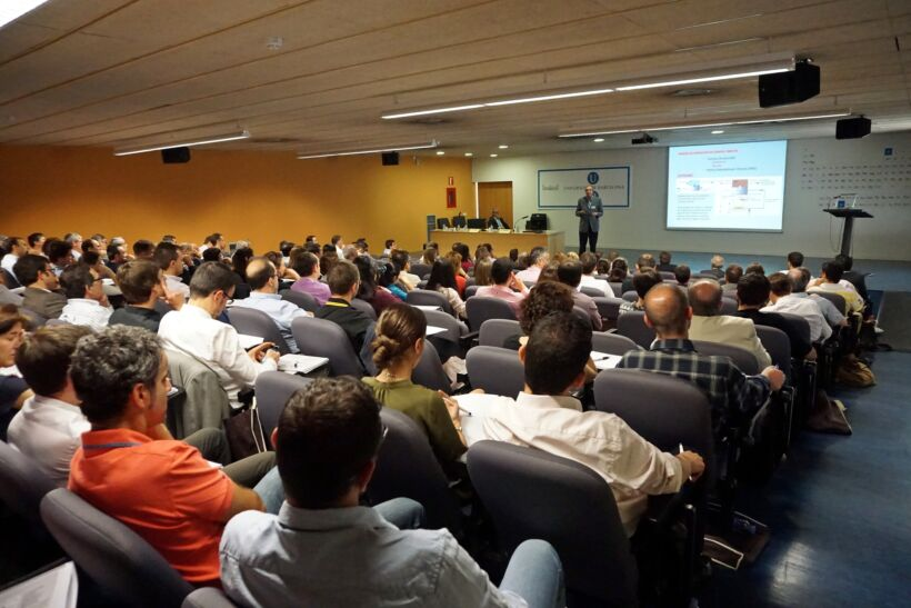 The audience at the 5th Barcelona conference on MBRs, May 2015 | News May 15 5Th Barcelona Conference On Mbrs 28 May 15 3