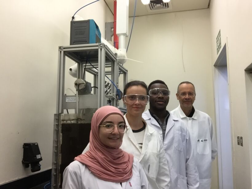 Figure 1:  The MBR team at Qatar University | News Nov 2017 Qu Team Develop New Approach To Test Clogging Fig 1
