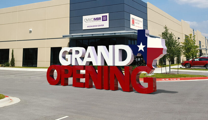 Figure 1.  The Ovivo® MBR Knowledge Center and MICRODYN-NADIR manufacturing plant announces grand opening in Austin, Texas | News Feb 2018 Ovivo Mbr Knowledge Center