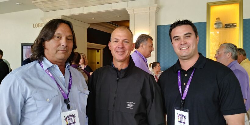 Fig 4: Three good looking dudes: Leif Utegaard, Kevin Siring and Rylan Utegaard from Santa Lucia Preserve attended Ovivo's MBR Workshop.   News May 2018 Ovivo Rocks Data Fig 4