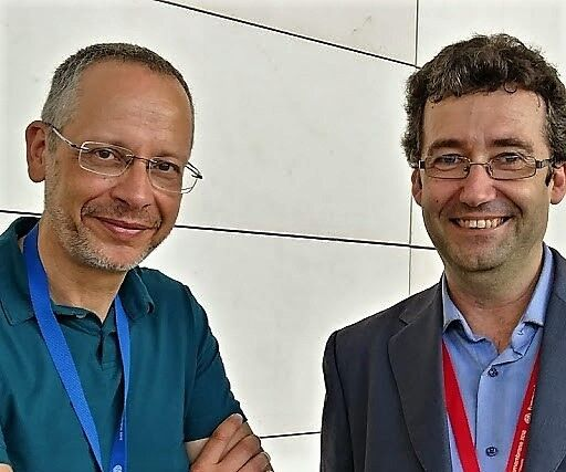 Figure 2:  Organiser José Antonio Mendoza-Roca of the Universitat Polytècnica de València with plenary speaker Simon Judd | News July 2018 Euromembrane Jose Antonio