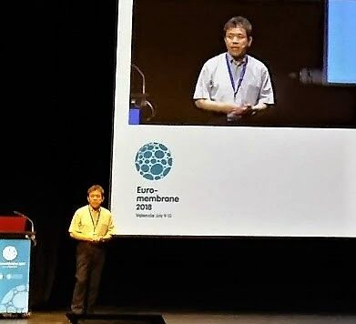 Figure 5:  Prof. Kimura of Hokkaido University gave a keynote lecture on fouling by polysaccharides | News July 2018 Euromembrane Kimura
