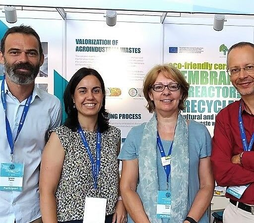 Figure 3:  Ignacio Pastor Carbonell and Elena Zuriaga−Agusti of the REMEB project, with Claire and Simon Judd | News July 2018 Euromembrane Remeb