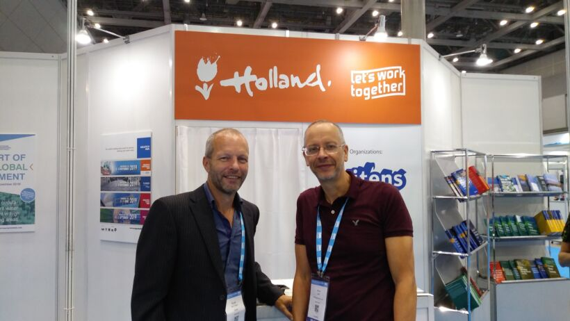 Ronald van't Oever, MBR Product Manager of X-Flow Pentair with Simon Judd | News Iwa 2018 Pentair