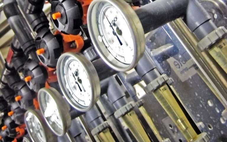Image of a row of pressure gauges